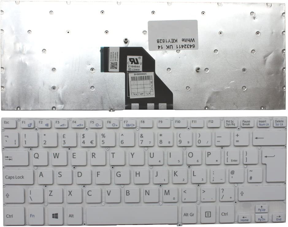 Sony Vaio SVF1421E2EW Keyboards4Laptops UK Layout White Windows 8 Laptop Keyboard Compatible with Sony Vaio SVF1421DCXW Sony Vaio SVF1421ECXB Sony Vaio SVF1421E2 Sony Vaio SVF1421E2EB