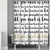 Designs Direct Glam Love Languages Shower Curtain 74'' W x 71'' L