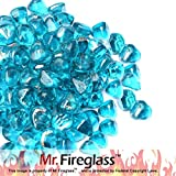 Cheap Mr. Fireglass 1/2″ Reflective Diamonds Fire Glass with Fireplace and Fire Pit, 10 lb, Caribbean Blue