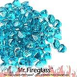 Mr. Fireglass 1/2' Reflective Fire Glass Diamonds with Fireplace...