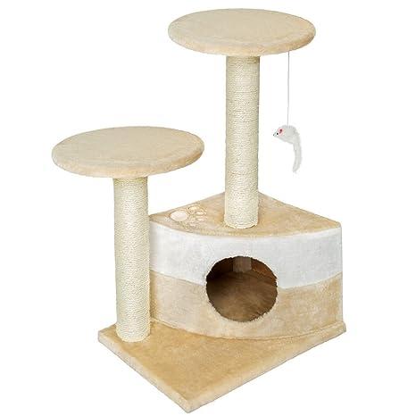 zearo Zamora Rascador Gato – Árbol para gatos Árbol con cueva parte Árbol Escalada algodón Muebles