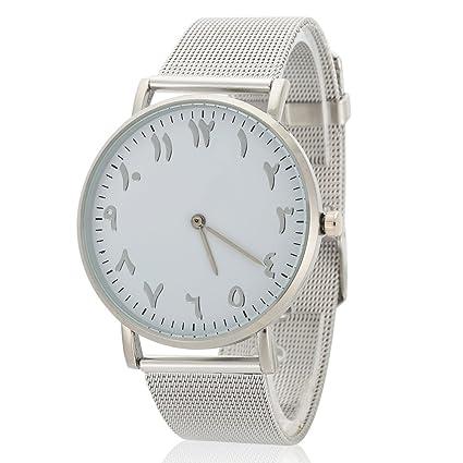 Relojes para mujeres, reloj de pulsera de reloj de dial redondo analógico de correa de