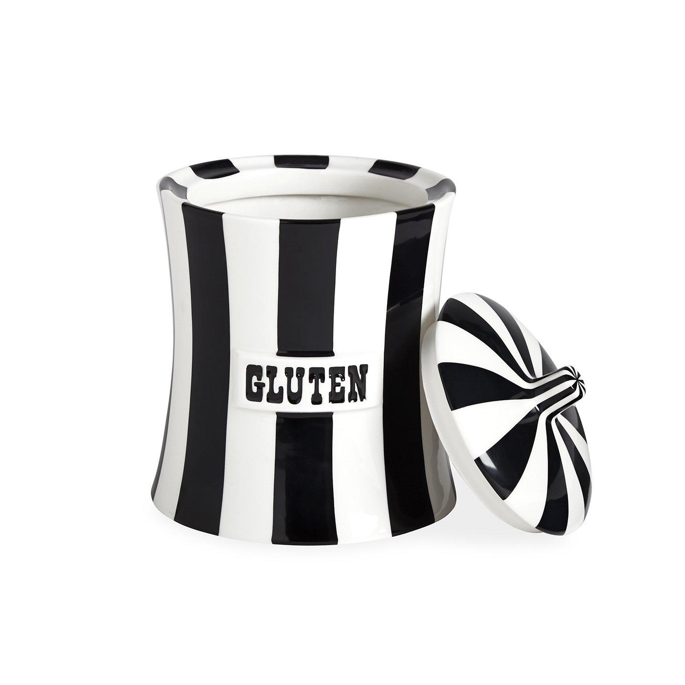 Jonathan Adler - Canister - Gluten - Black & White