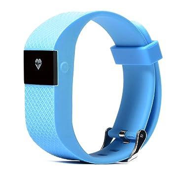 Bluetooth 4.0 Smartwatch Reloj de Pulsera para Móvil Android IOS (Monitor de pulso cardiaco,