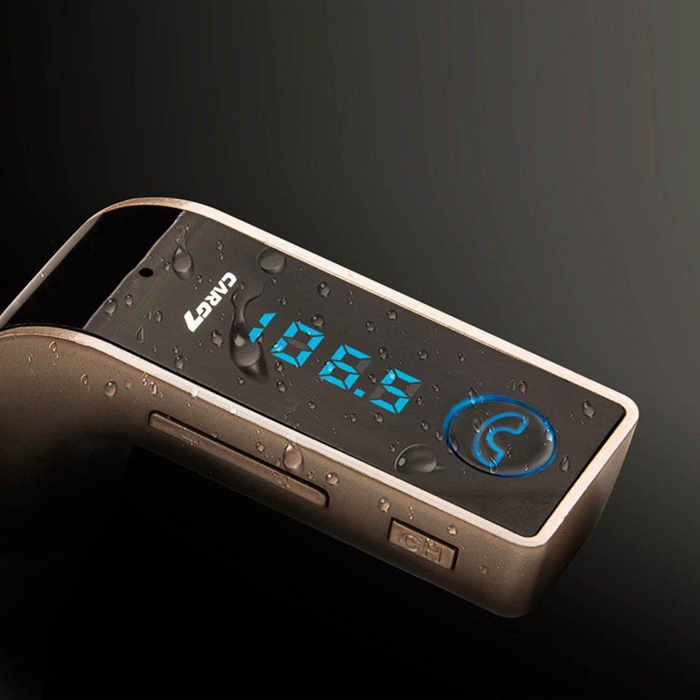 ELENXS G7 Bluetooth Car Kit Mains Libres Transmetteur FM Lecteur MP3 USB Chargeur et AUX