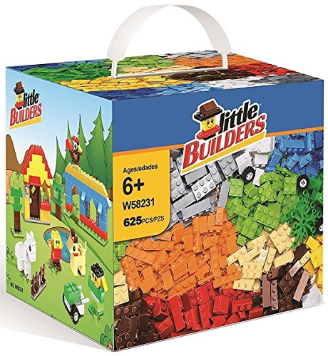 Little Builder Educational Toy, Building Bricks, Bulk Blocks, Brick Set, Compatible With All Major Brands, 625 Pieces