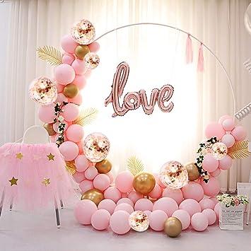 Super Palloncini Compleanno Arco Rosa Oro Foil Love 5M 117PCS Matrimonio ZQ39