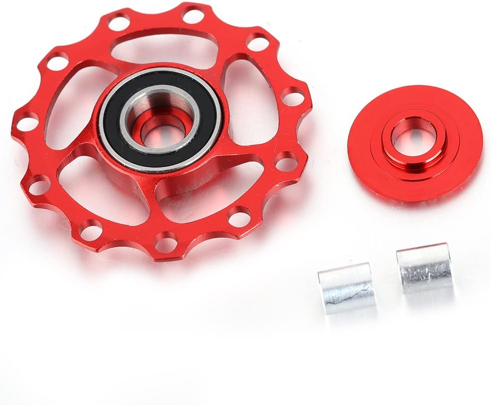 Bike Bicycle Rear Derailleur Pulley 1Set 11T Red TAIWAN
