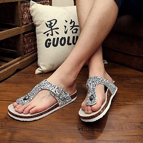 Fankou Männer Sind im Sommer Kühl und Student Frauen Lounge Hausschuhe Frauen Paare Schuhe für Frauen Student 43 Ein a24762
