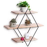 Wall Shelf Rustic Wood Floating Shelves Decorative Wall Shelf for Bedroom Living Room Bathroom Kitchen Office and More