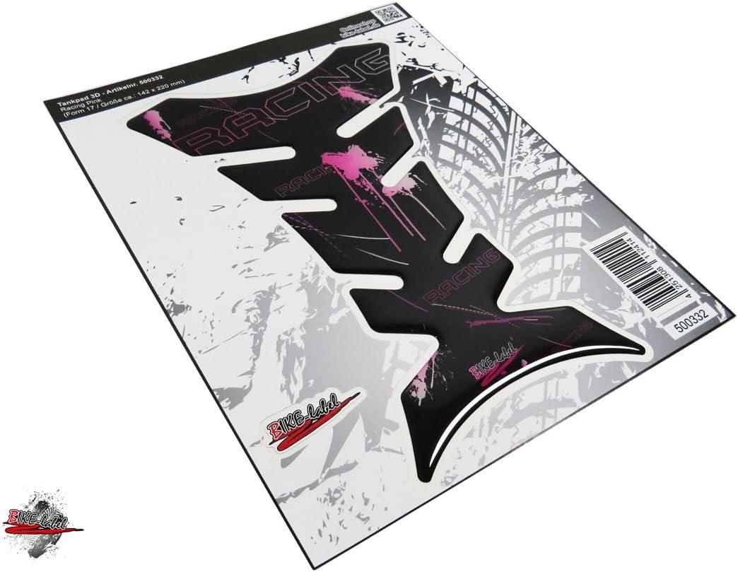 500332 Va Tankpad 3d Racing Black Pink Splatter Tank Schutz Für Motorrad Tank Auto