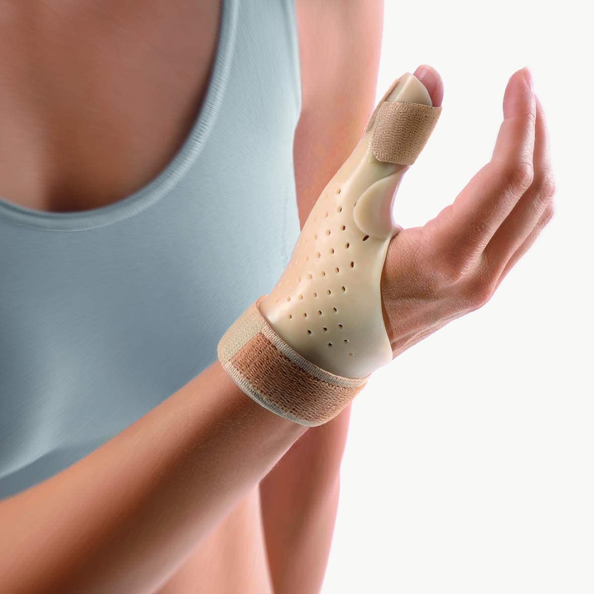 "B0041M4O8W Bort 112900 SELLAFIX® P Quervain's Tenosynovitis Brace for Thumb Tendon, Trigger Thumb Heat Adjustable Medical Grade Made in Germany (Beige, Small, Left 5.9"" – 6.7"" inches) 61jLnMMGkrL.SL1181_"