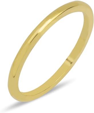 Goldring 750 Gold Massiv Gelbgold 18 Karat Damen Band Ring