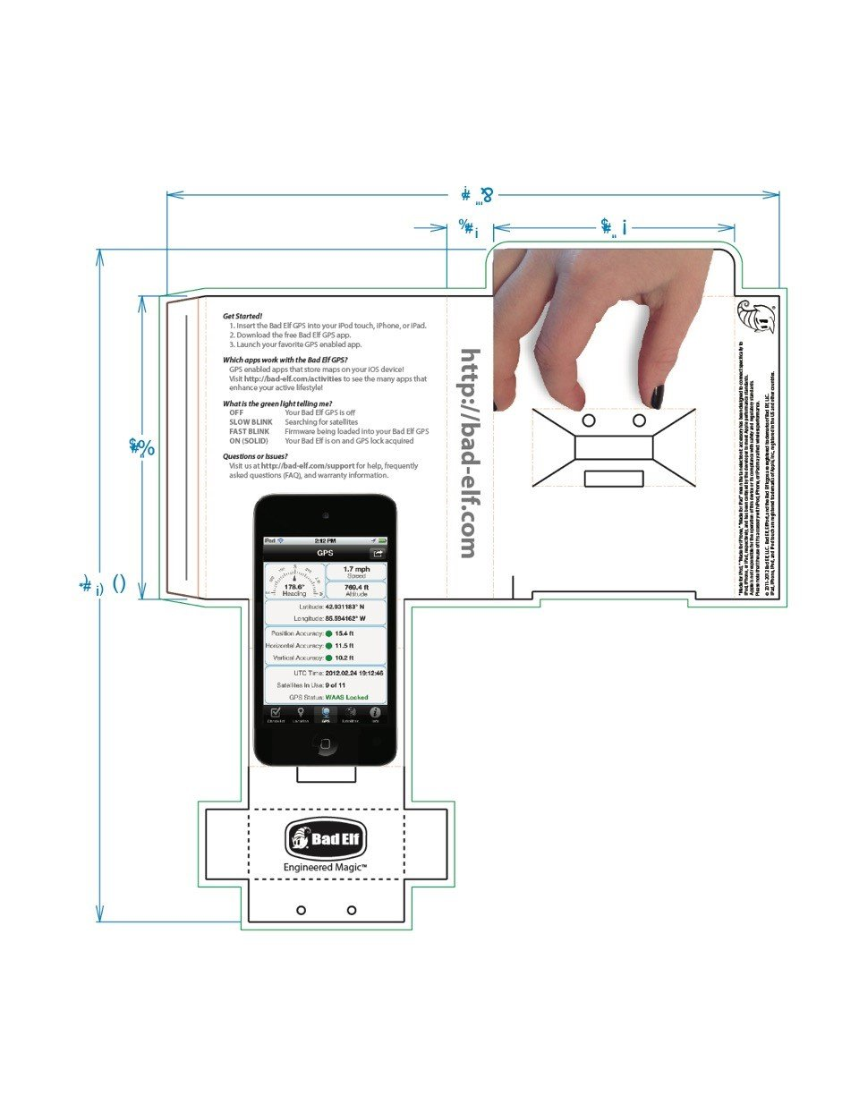 Bad Elf Gps For Dock Connector Ipad Iphone Or Ipod Touch 5 Wiring Diagram Cell Phones Accessories
