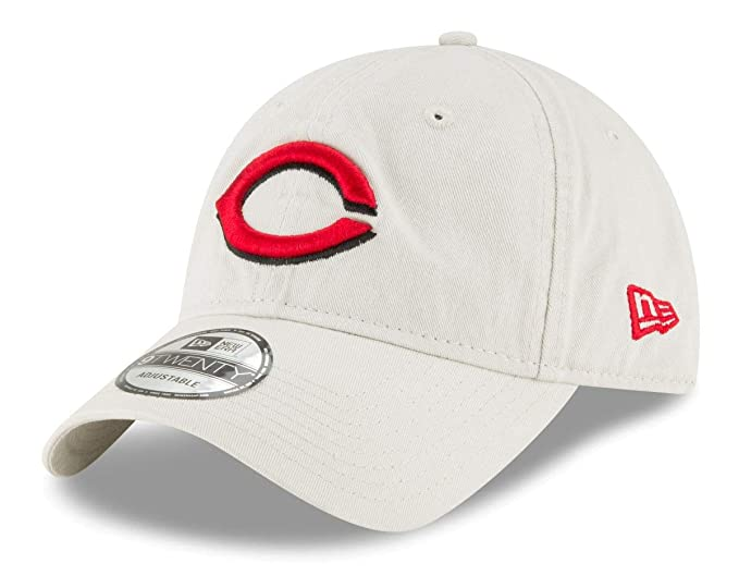 brand new 097a5 306fd Amazon.com   New Era Cincinnati Reds MLB 9Twenty Core Classic Stone  Adjustable Hat   Clothing