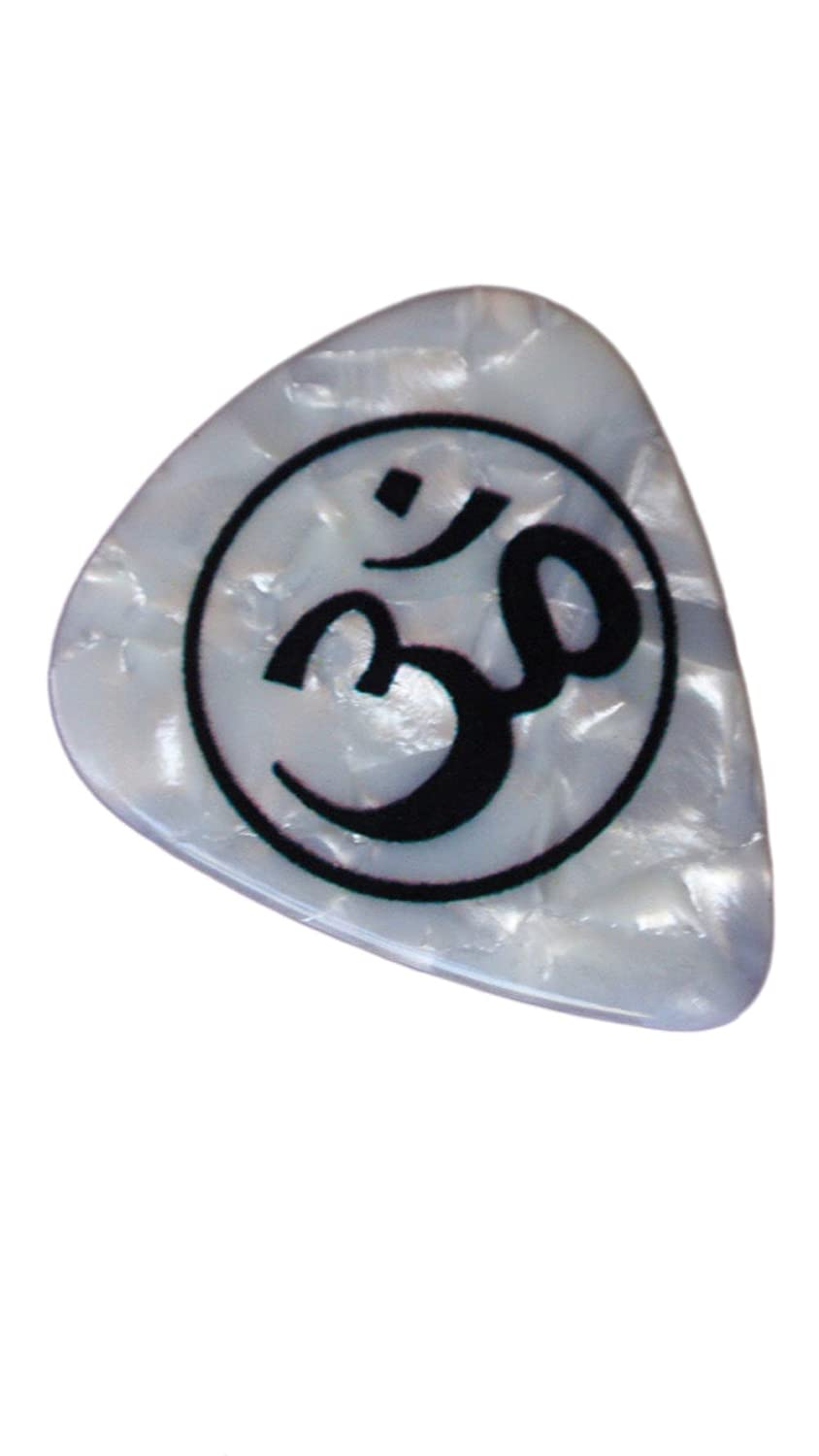 Amazon unique and custom 76mm thick medium gauge hard amazon unique and custom 76mm thick medium gauge hard plastic round tip guitar pick w circular om sound of the universe indian buddhist hindu hexwebz Images