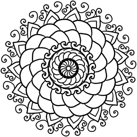 Amazon Com Laminated 24x24 Inches Poster Mandala Coloring Page