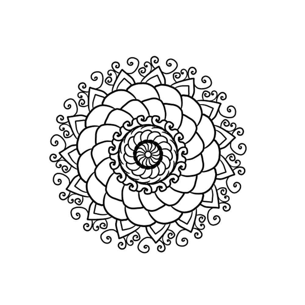 Amazon.com: Laminated 24x24 inches Poster: Mandala Coloring ...