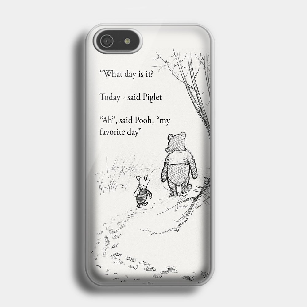 winnie the pooh quotes iphone case