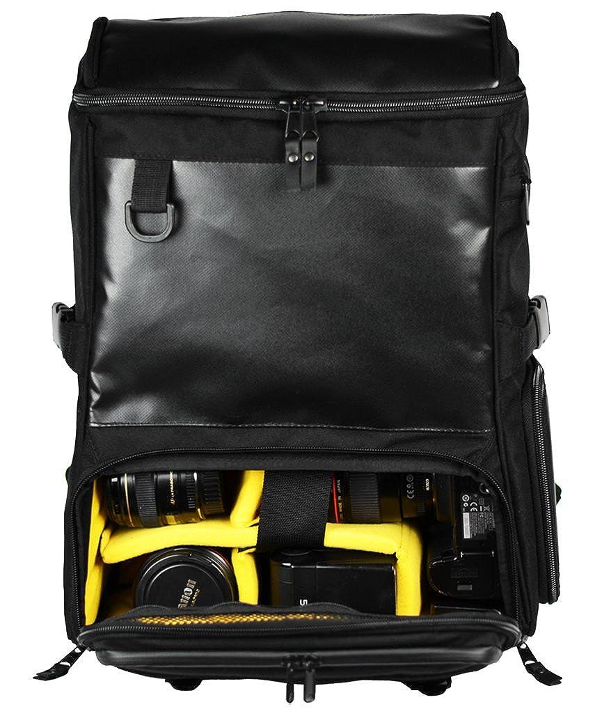 Gud究極DSLRカメラバックパック、ラップトップEdition、ブラック   B06X9CM2M4