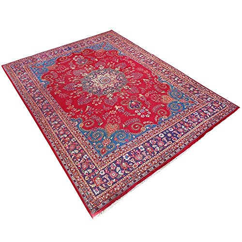 12.8' x 9.5' Red Color Handmade Rug, Wool Oriental Rug, Traditional Design rugs. Vintage Floor Rug, Oriental Area Rug, Traditional Fancy Carpet. Code: S0101158