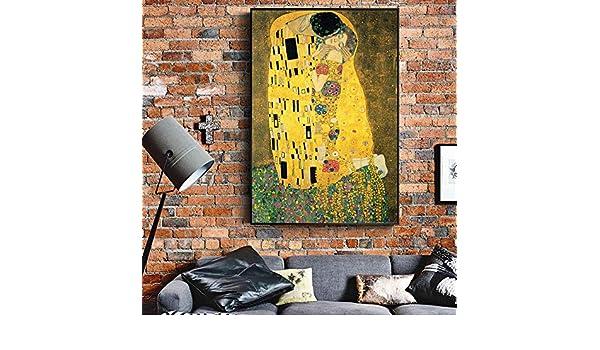 Pinturas de Gustav Klimt Kiss en las reproducciones de pared ...