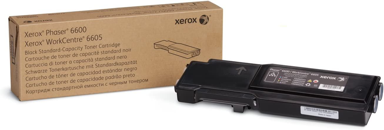 Genuine Xerox Black Toner Cartridge for the Phaser 6600 or WorkCentre 6605, 106R02244