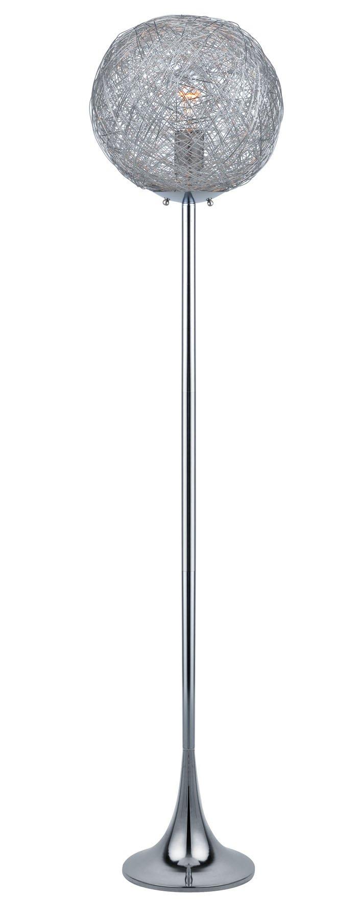 Lite Source Floor Lamps Ls-82374 Kolina Floor Lamp, Chrome, Aluminum Shade