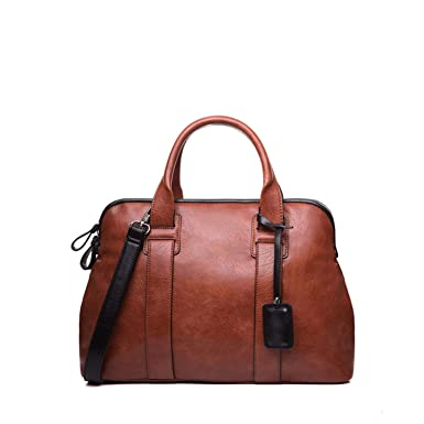 598a182e83a Amazon.com: Chibi-store Women Handbags Casual Top-Handle Bags PU Leather,red  brown: Clothing