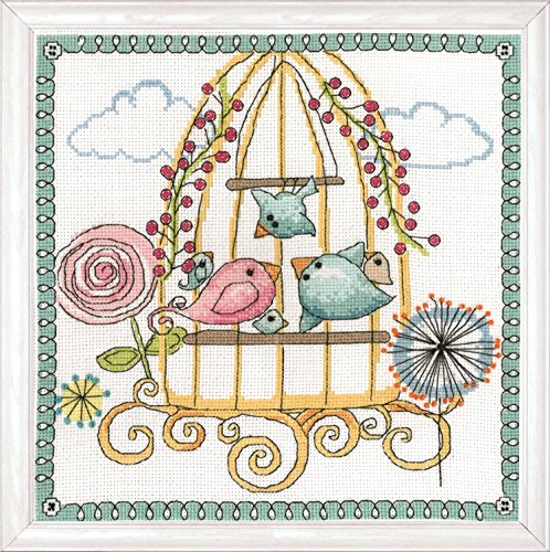 Tobin 2913 14 Count Birdcage Counted Cross Stitch Kit, 10