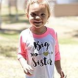Toddler Girls Big Sister T Shirt Matching Little