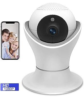 SDETER IP cámara WiFi 1080P,Camaras de Vigilancia inalámbrico IR Vision nocturna con, Detección de movimiento, audio bidireccional, Instalación simple ...