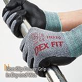 DEX FIT Nitrile Work Gloves FN330, 3D Comfort