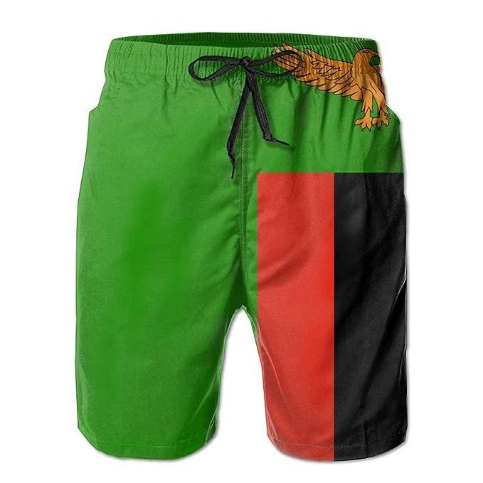 ab358db362 Jay94 Flag of Zambia Summer Cool Ultra-Light Men Summer Surfing  Quick-Drying Swim