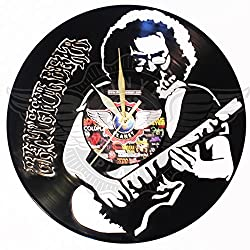 DIY GRATEFUL DEAD Vinyl Record Wall Clock Decorate your home with Modern Large upcycled 12'' - perfect gift for your favorite friend teacher musician,Best gift for friend, for him or her