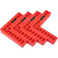 POFET 4 stks 90 Graden Positioning Klem L Type Haakse Klemmen Houtbewerking Tool Extra Locator Plastic Vierkante Heerser…