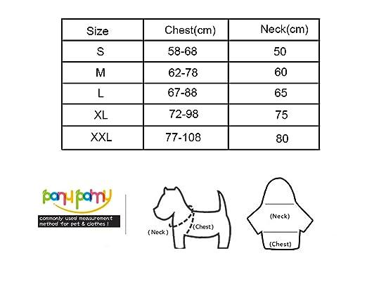 inpay – Perro pechera ajustable y reflectante 4 Color y 5 tamaño ...