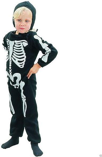 Toddler bambini Scheletro Costume Halloween Festa Bambino Ragazzi Ragazze Costume Nuovo