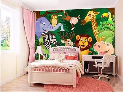 Mbwlkj 3d Papel Pintado Papel Tapiz 3d Habitación Para Niños Dibujos