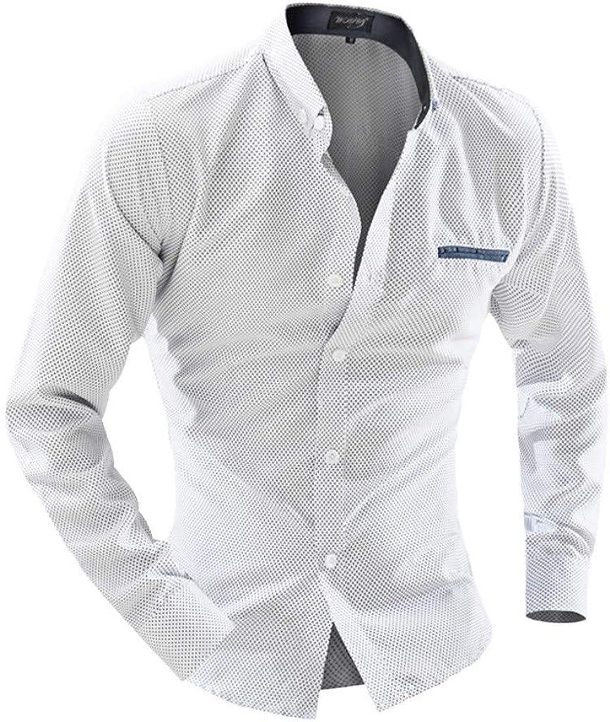 Amaone - Camisa para Hombre (Fibra de bambú, Manga Larga ...
