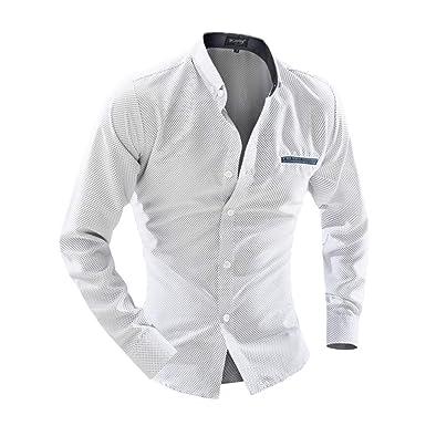 83f9484130 Shirts for Men Printed,Camicie A Maniche Lunghe Casual Grandi ...