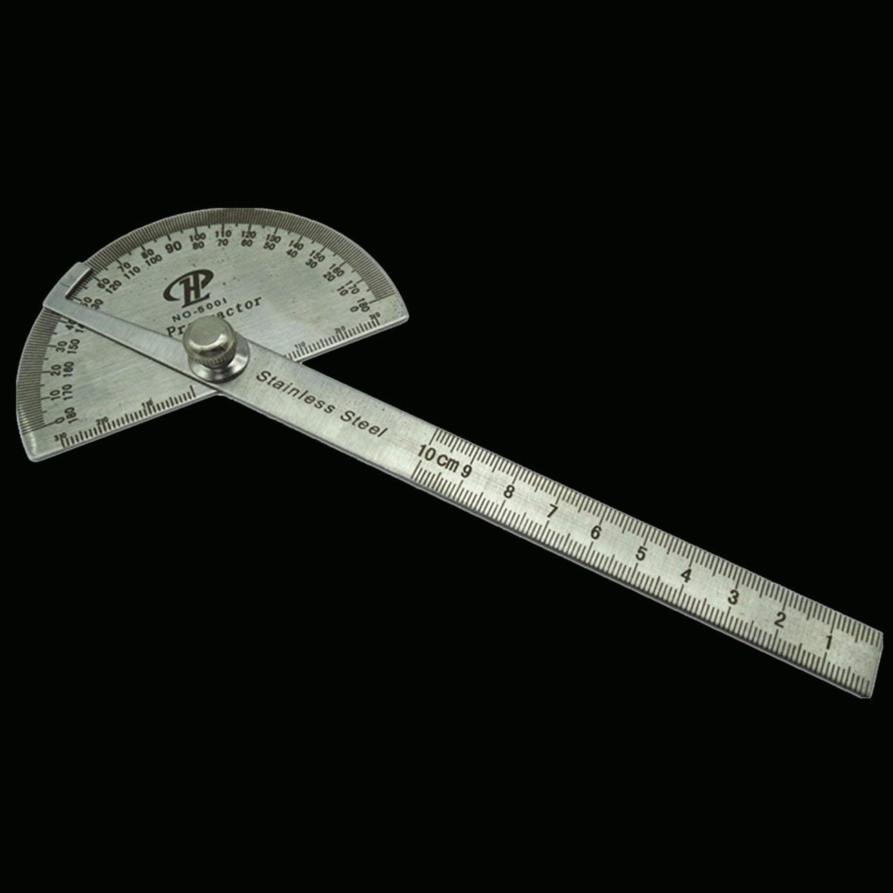 Liobaba Protractor Metal Protractor Square Stainless Steel Angle Ruler