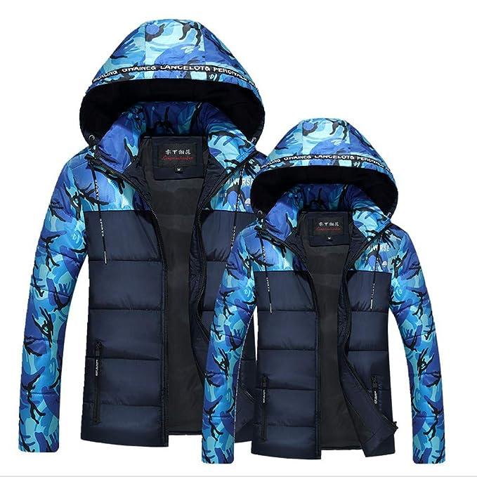 Cappotto per Giacche da Uomo Imbottito con Mimetica Moda Pelliccia Sintetica  Felpa Cappuccio Colore Puro Giacca cce827cf099