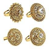Zaveri Pearls Ring for Women (Golden)(ZPFK6031)