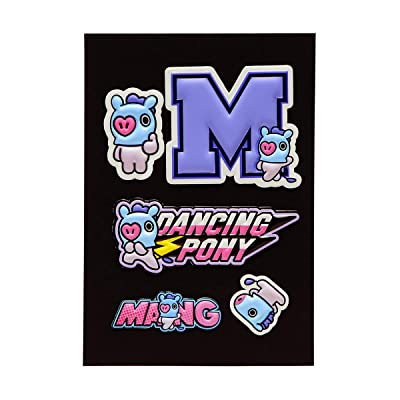 BT21 Official Merchandise by Line Friends - MANG Character 5 Piece Decal Stickers: Computers & Accessories