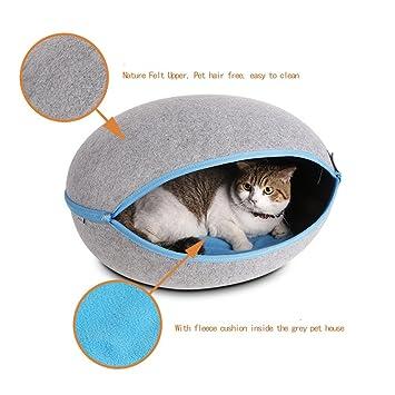 MUJING Manta para cama de perro con forma de huevo creativo para mascotas, cama doble