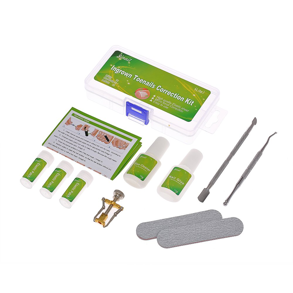 Anself Ingrown Toenail Correction Kit Nail Correction Cleaner Include Nail Glue Lifter Patch and Nail Pusher W6816-2JRKUJ
