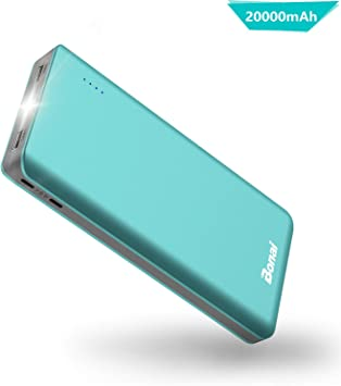 BONAI Bateria Externa Movil 20000mAh Power Bank con 2 Mirco ...