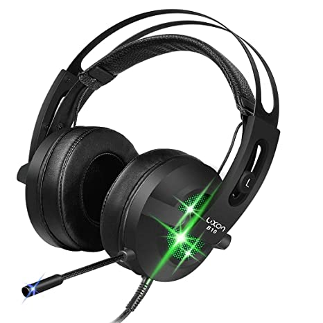 USB Gaming Over-Ear Headphones 7 1 Virtual Surround Sound Stereo Vibration  PC Gaming Headset with Microphone Noise Isolating & Colorful Breathing LED