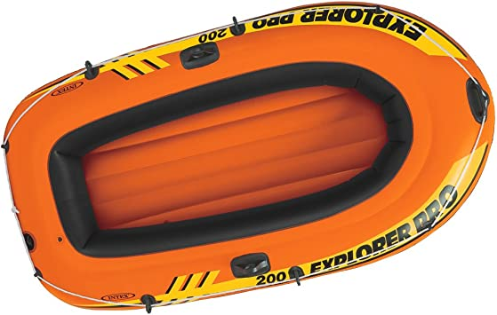 Intex Explorer 200 Pro Inflatable Boat Set with Oars and Pump